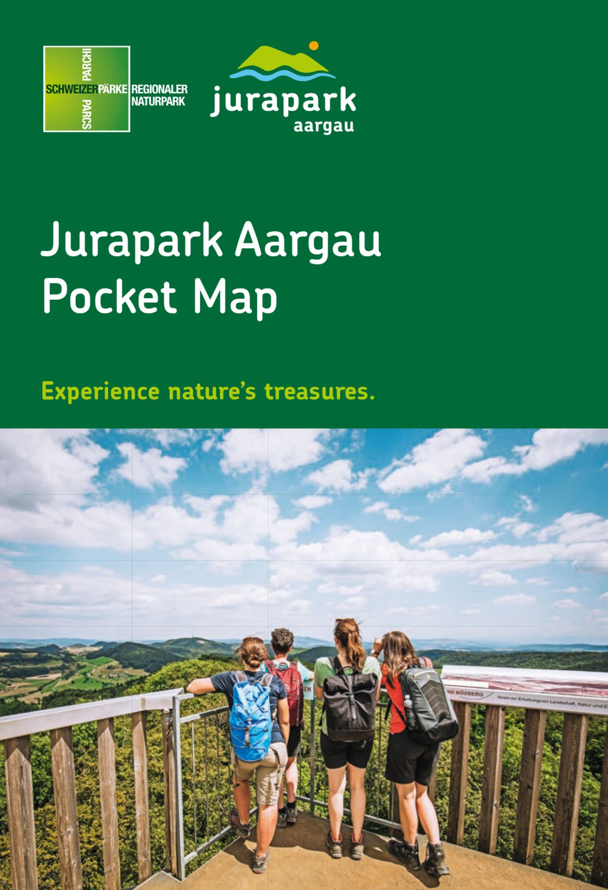 Pocket Map Jurapark Aargau